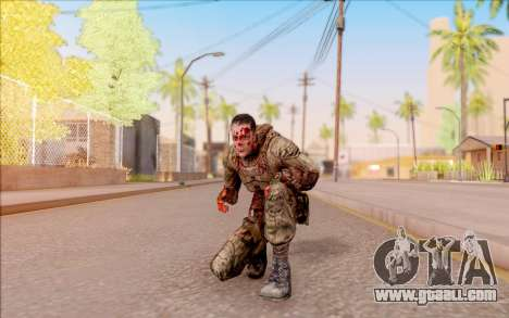 Zombie Degtyarev from S. T. A. L. K. E. R. for GTA San Andreas fifth screenshot