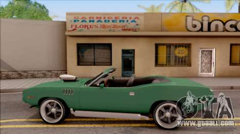Plymouth Hemi Cuda 426 Cabrio 1971 for GTA San Andreas left view