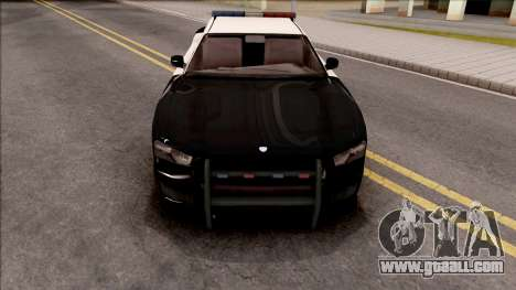 Dodge Charger Police Cruiser Lowest Poly for GTA San Andreas inner view