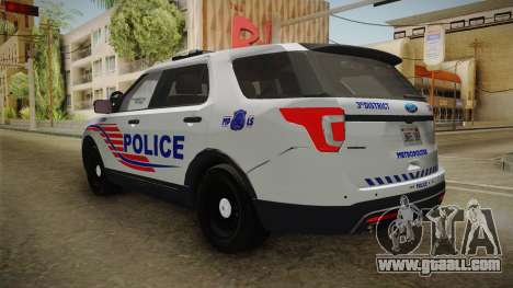 Ford Explorer 2016 Police for GTA San Andreas right view