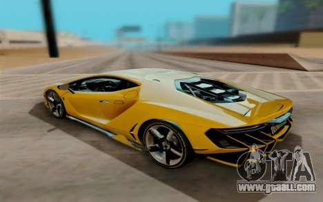 Lamborghini Centenario for GTA San Andreas back left view