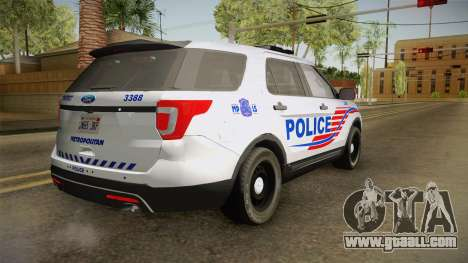 Ford Explorer 2016 Police for GTA San Andreas left view