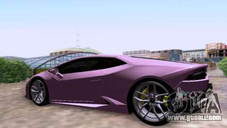 Lamborghini Huracan LP 610-4 SA Plates for GTA San Andreas left view