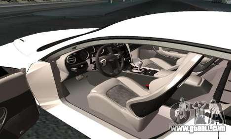 Bentley Continental GT Armenian for GTA San Andreas inner view