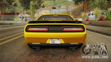 Dodge Challenger 2017 Demon for GTA San Andreas interior