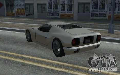 MFR Bullet Legendary Racer for GTA San Andreas back left view