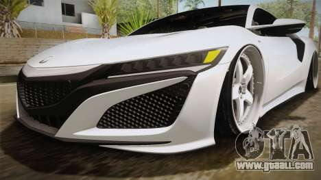 Acura NSX Stance 2017 for GTA San Andreas upper view