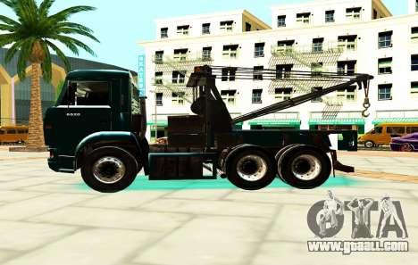 KamAZ 6520 V8 TURBO Tow truck for GTA San Andreas left view