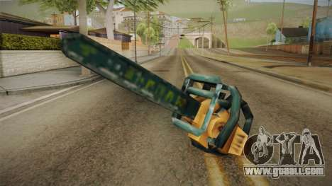 Motosierra Doble Hoja Chainsaw for GTA San Andreas second screenshot