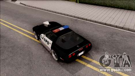 Chevrolet Corvette C4 Police LVPD 1996 v2 for GTA San Andreas back view