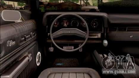 Ford Gran Torino Police LVPD 1975 v3 for GTA San Andreas inner view