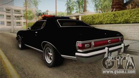 Ford Gran Torino Police LVPD 1975 for GTA San Andreas left view