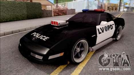Chevrolet Corvette C4 Police LVPD 1996 v2 for GTA San Andreas