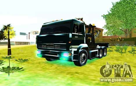 KamAZ 6520 V8 TURBO Tow truck for GTA San Andreas right view