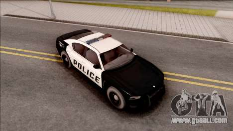 Dodge Charger Police Cruiser Lowest Poly for GTA San Andreas right view