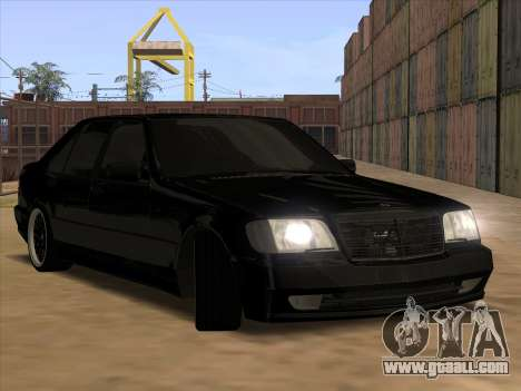 Mercedes-Benz S63 Brabus for GTA San Andreas bottom view