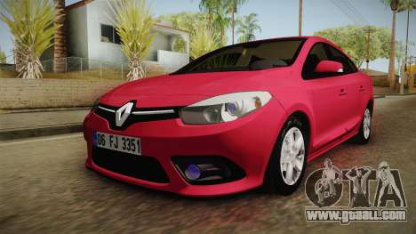 Renault Fluence Touch for GTA San Andreas