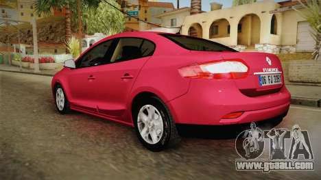 Renault Fluence Touch for GTA San Andreas left view