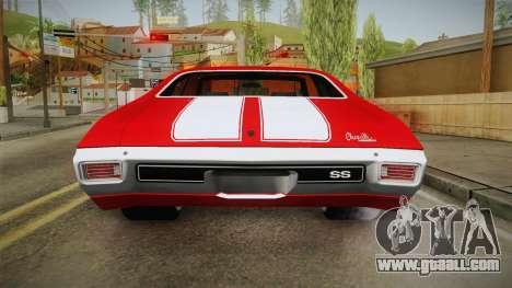 Chevrolet Chevelle SS 1970 vv1 for GTA San Andreas interior