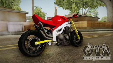 Honda CBR 1100CC Street Fighter Cipher for GTA San Andreas left view