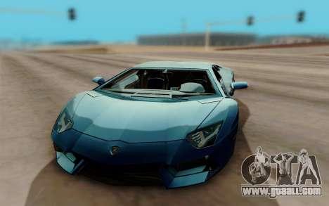 Lamborghini Aventador for GTA San Andreas back view