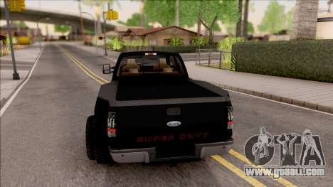 Ford F-350 Super Duty Low Style for GTA San Andreas back left view