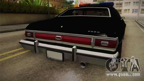 Ford Gran Torino Police LVPD 1975 for GTA San Andreas inner view