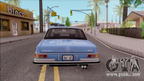 Mercedes-Benz 300SEL 6.3 for GTA San Andreas back left view