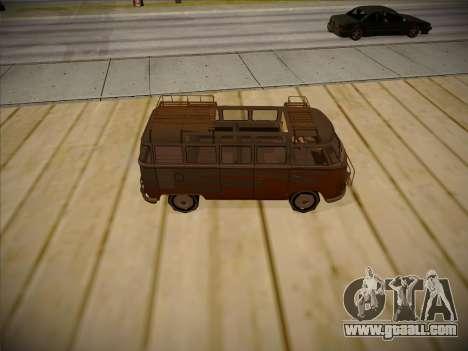 Volkswagen Samba BUS 1959 for GTA San Andreas inner view