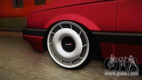 Volkswagen Passat B3 Variant Stanced for GTA San Andreas back view
