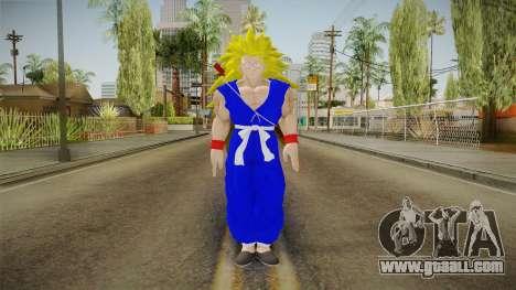 Goku Original DB Gi Blue v5 for GTA San Andreas second screenshot