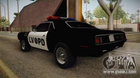 Plymouth Hemi Cuda 426 Police LVPD 1971 for GTA San Andreas right view