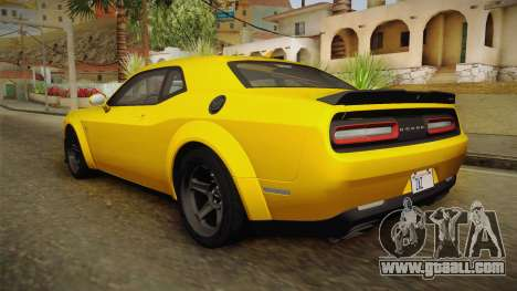 Dodge Challenger 2017 Demon for GTA San Andreas left view