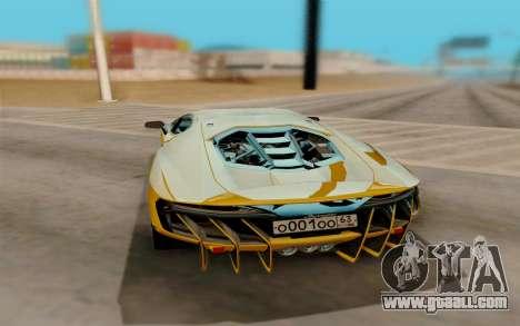 Lamborghini Centenario for GTA San Andreas right view