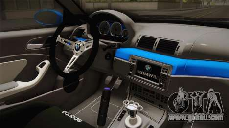 BMW M3 E46 for GTA San Andreas inner view
