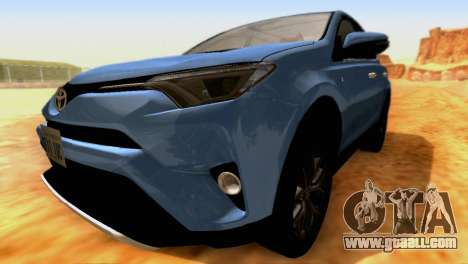 Toyota RAV4 2015 SA for GTA San Andreas inner view