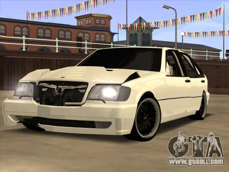 Mercedes-Benz S63 Brabus for GTA San Andreas back left view