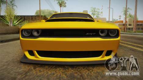 Dodge Challenger 2017 Demon for GTA San Andreas side view