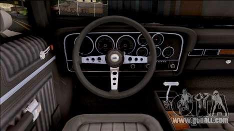 Ford Gran Torino Police LVPD 1972 v3 for GTA San Andreas inner view