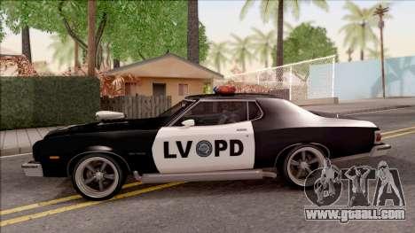 Ford Gran Torino Police LVPD 1975 v3 for GTA San Andreas left view