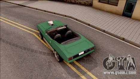 Plymouth Hemi Cuda 426 Cabrio 1971 for GTA San Andreas back view