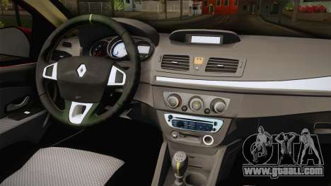 Renault Fluence Touch for GTA San Andreas inner view