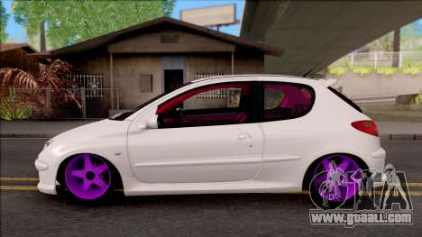 Peugeot 206 for GTA San Andreas left view
