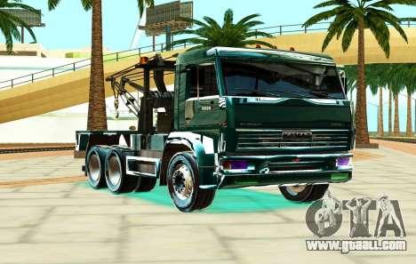 KamAZ 6520 V8 TURBO Tow truck for GTA San Andreas