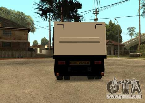 Realistic Arctic2 Trailer for GTA San Andreas back left view