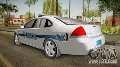 Chevrolet Impala 2011 Police for GTA San Andreas right view