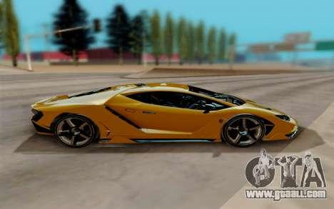 Lamborghini Centenario for GTA San Andreas left view