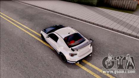 Toyota GT86 Tofu Shop for GTA San Andreas back view