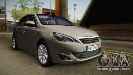 Peugeot 308 2017 for GTA San Andreas back left view