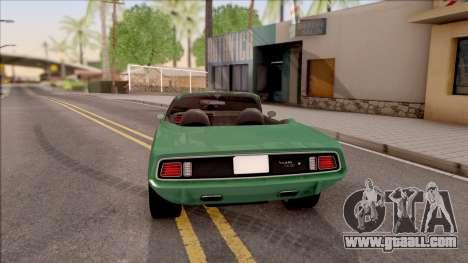 Plymouth Hemi Cuda 426 Cabrio 1971 for GTA San Andreas back left view
